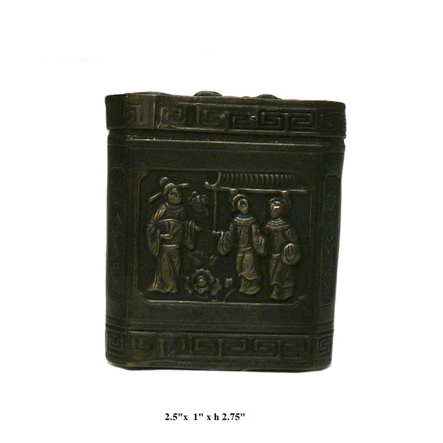 Handmade Metal Bronze Trinket Box - Image 5 of 5