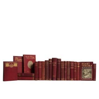 Vintage Bordeaux & Gilt Book Set For Sale