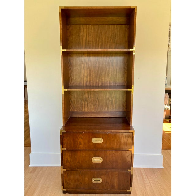 Late 20th Century Dixie Campaign Dresser With Shelves For Sale - Image 13 of 13