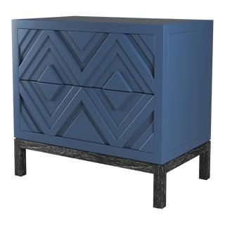 Susana Side Table - Newburyport Blue, Black Cerused Oak For Sale