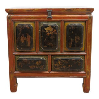 1900s Antique Raised Panel Chest Of Drawers For Sale