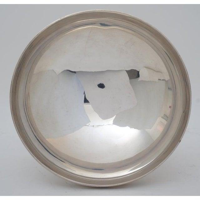"Metal Art Deco 1930s ""Les Fils De C. Wormser, Paris"" Compote Silver Plated on Mahogany Plinth For Sale - Image 7 of 9"