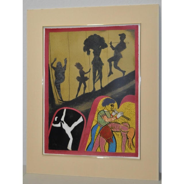 """R.B. Kitaj """"New York Performing Arts Center"""" Pencil Signed Lithograph c.1983 Remarkable lithograph by celebrated New York..."""