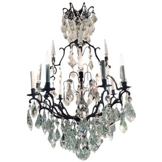 Versailles Chandelier With Swarovski Strass and Crystal Pendants For Sale