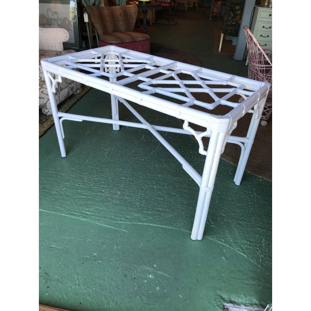 Lexington Fretwork Chinese Chippendale Rattan Base For Sale - Image 11 of 11