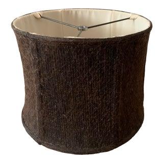 Dark Brown Burlap Lamp Shade For Sale