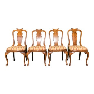 Set of 4 Antique Regency Style Breakfast Dining Chairs For Sale