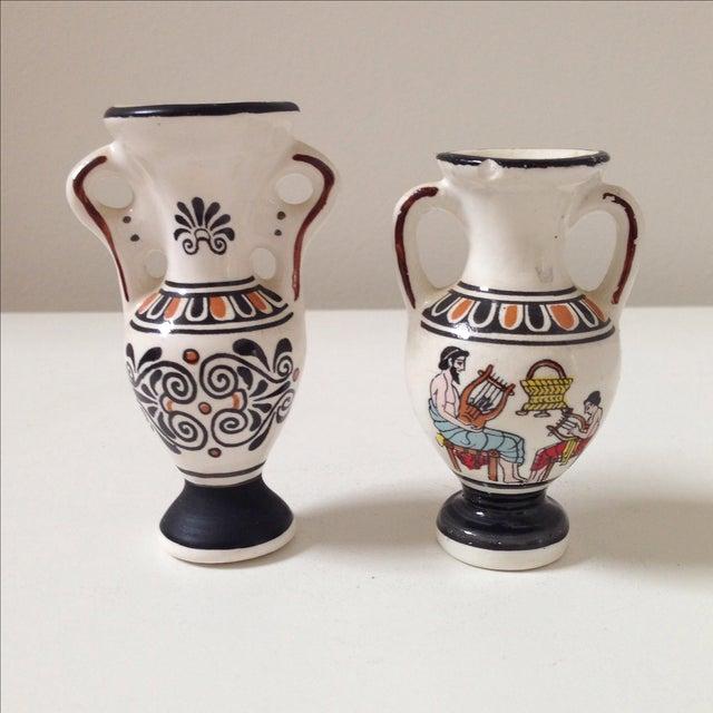 Small Greek Ceramic Vases - A Pair - Image 3 of 11