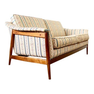 Mid Century Danish Modern Folke Ohlsson for Dux Settee or Loveseat For Sale