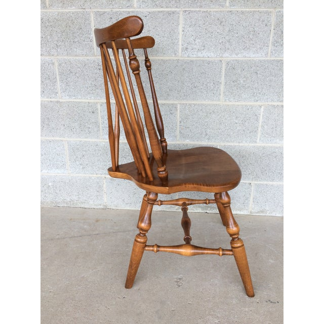 Ethan Allen Windsor Brace Back Nutmeg Side Chairs - Set of 4 For Sale - Image 10 of 11