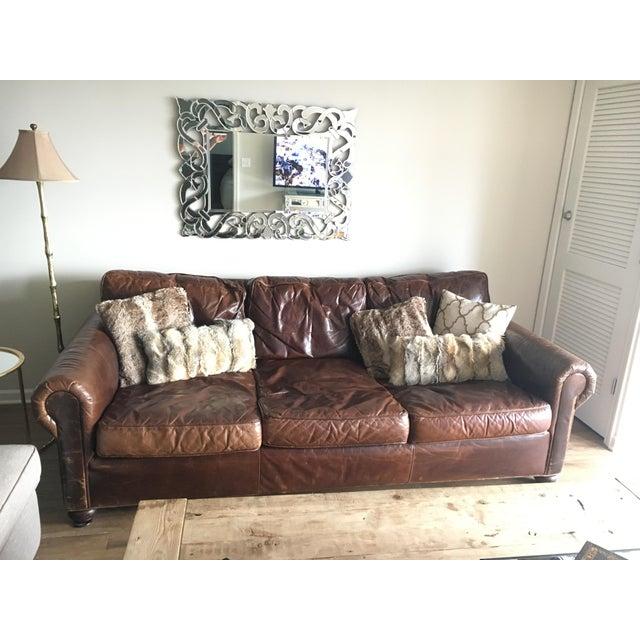 Restoration Hardware Sale: Restoration Hardware Original Lancaster Leather Sofa