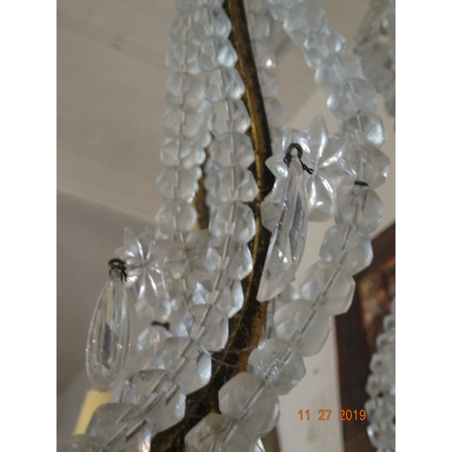 French French Crystal Chandelier For Sale - Image 3 of 12
