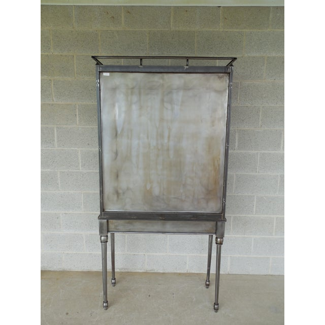 Early 21st Century Modern Welded Steel Designer 2 Door Display Cabinet For Sale - Image 5 of 13