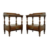 Image of Pair Vintage Traditional Sterlingworth Corp Solid Cherry Nightstands End Tables For Sale