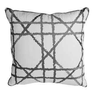 Contemporary Gray Accent Pillow For Sale