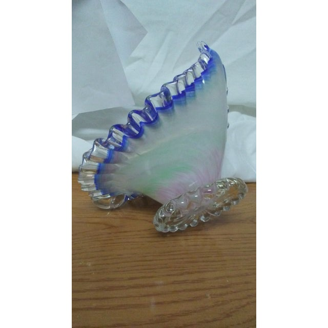 Hand Blown Glass Peacock Dish For Sale - Image 4 of 6