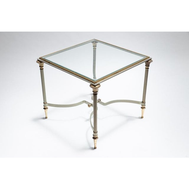 Maison Jansen Steel & Brass Side Tables- A Pair - Image 4 of 8