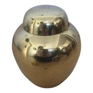 Vintage Solid Brass Urn For Sale