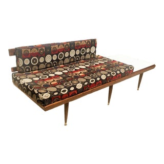 Mid Century Daybed Settee With Table For Sale