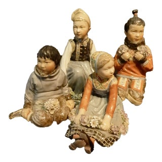 Vintage Royal Copenhagen Overglaze Porcelain Figurines - Set of 4
