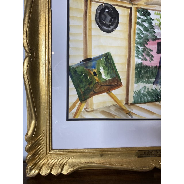 Mid 19th Century Joseph Pollet Original Framed Painting For Sale In Washington DC - Image 6 of 9