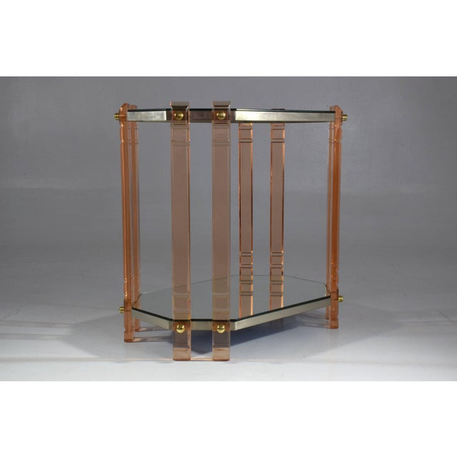 Hollywood Regency 20th Century French Plexiglass Etagere or Bar Cart For Sale - Image 3 of 11