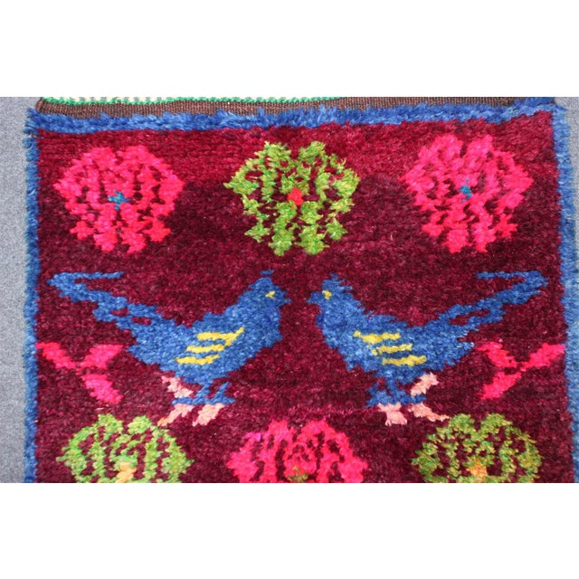 Vintage Turkish Bird Motif Tulu Rug - 2′8″ × 11′6″ - Image 7 of 11