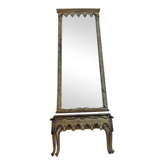 La Barge French Gold Pier Mirror & Console Table - Image 9 of 9