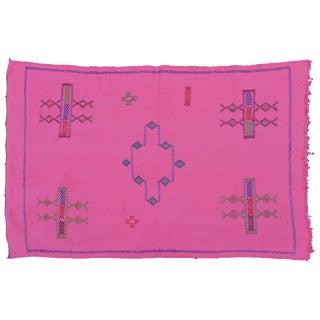 Moroccan Cactus Silk Rug- 4'10'' X 3' For Sale