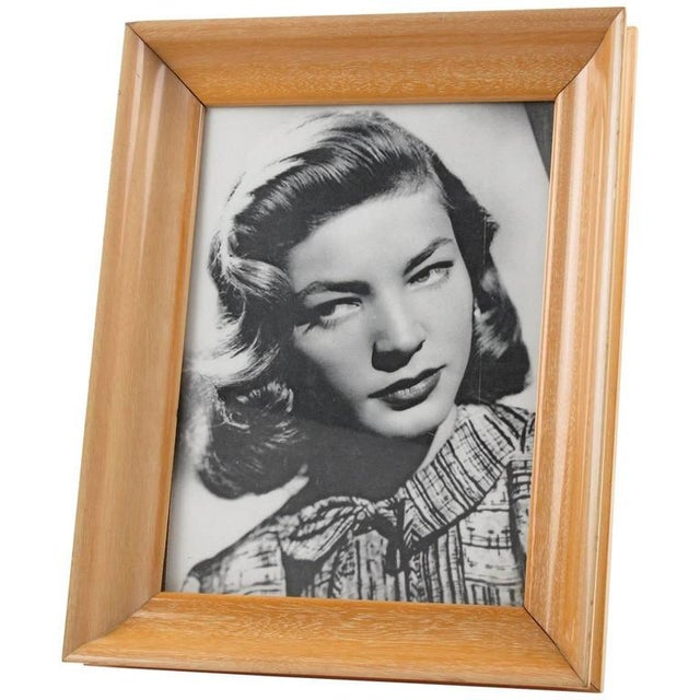 French Hollywood Regency Varnished Sycamore Picture Photo Frame - Image 5 of 5