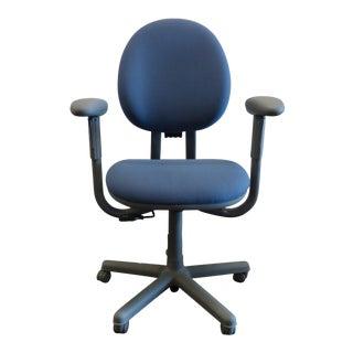 Modern Steelcase Criterion Blue Ergonomic Office Desk Chair