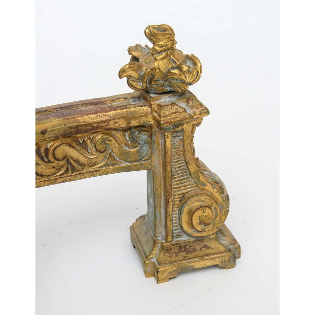Louis XV Gilt Bronze Chenets - A Pair For Sale - Image 5 of 10