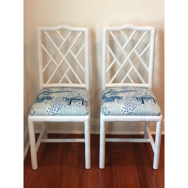 Sarreid Ltd. Brighton Bamboo Chairs - A Pair For Sale In Tampa - Image 6 of 6