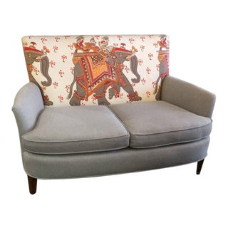 Sublime Vintage Loveseat With Custom Hermes Upholstery