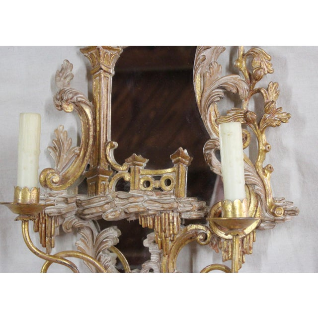 20th Century Rococo Gold Sconces- a Pair For Sale - Image 9 of 12