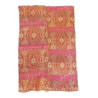 Hand Woven Tribal Ikat Throw For Sale