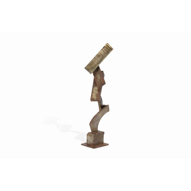 Vintage Mid-Century Brutalist Metal Sculpture by Peter Calaboyias For Sale - Image 4 of 13