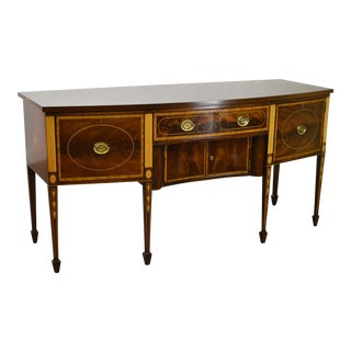 Kittinger Colonial Williamsburg Inlaid Mahogany Federal Sideboard (Cw-300) For Sale