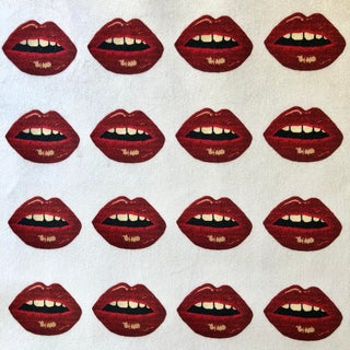Bisous! Lips Private Label Velvet Fabric For Sale