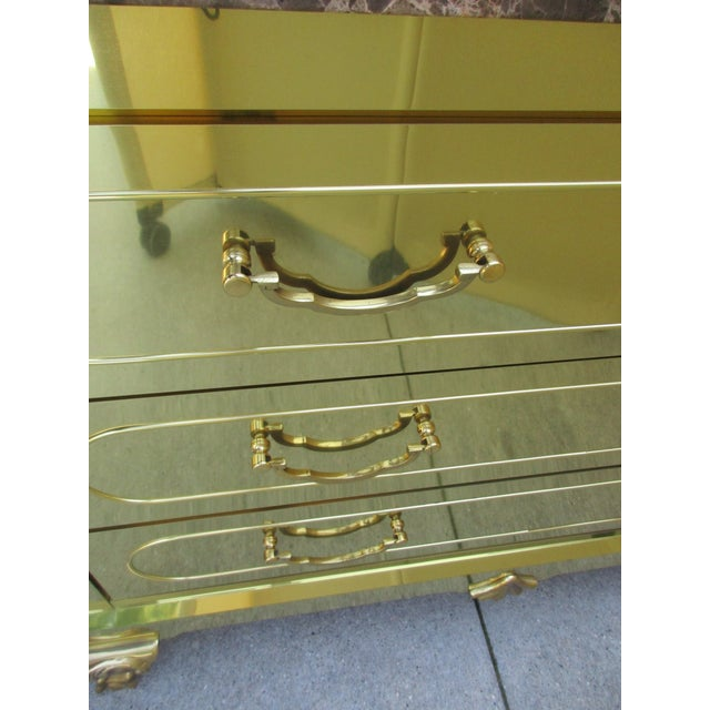 Brass Clad Chest of Drawers With Marble Top For Sale - Image 10 of 11