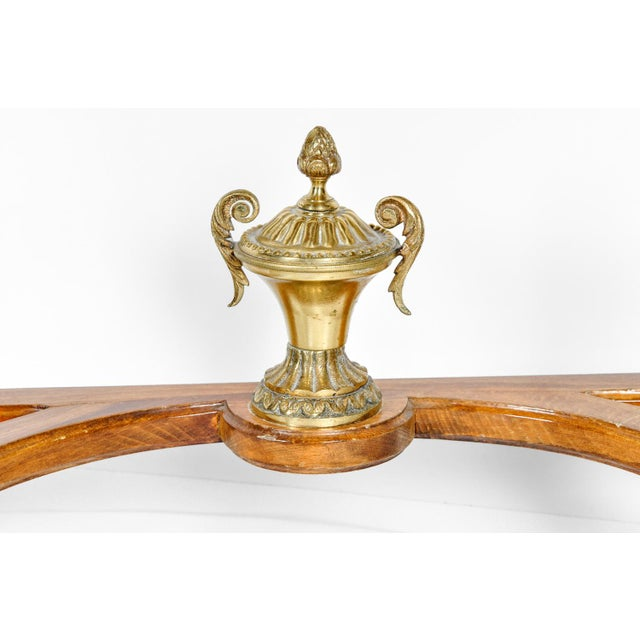 Antique French Louis XV Style Satinwood Writing Desk For Sale - Image 4 of 8