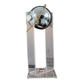 Mid Century Modern Robert Sonneman Lucite & Chrome Bulb Table Desk Lamp 1970s For Sale