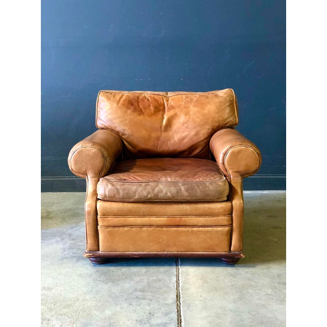 SERIOUSLY STUNNING! This high quality thick leather features outrageous wear and patina. Perfectly worn in, down cushions,...