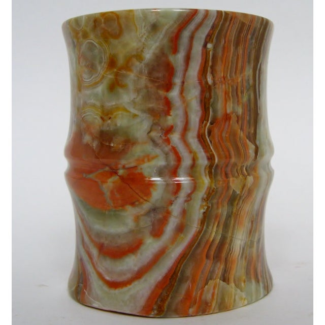 Carved Agate Pen Holder - Image 2 of 8