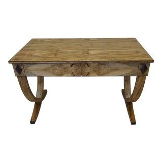 Art Deco Ambrosia Maple Writing Desk For Sale