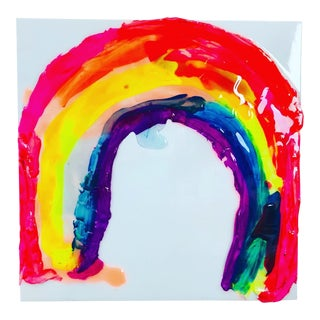 Megan Coonelly Oversized Rainbow Painting For Sale