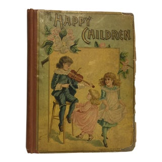 "1889 ""Happy Children "" Lithographs Book For Sale"