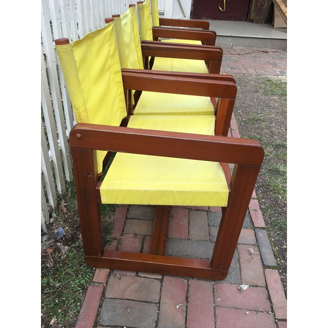 California Redwood Mid-Century Patio Chairs - Set 4 For Sale - Image 4 of 5