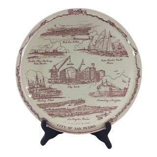Vintage San Pedro, California Souvenir Plate