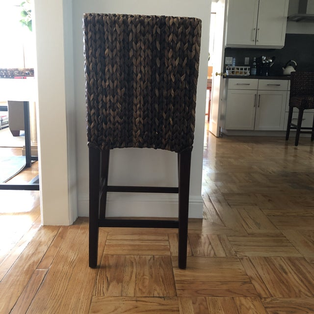 Modern Woven Seagrass Counter Stools- Set of 4 For Sale In San Francisco - Image 6 of 9